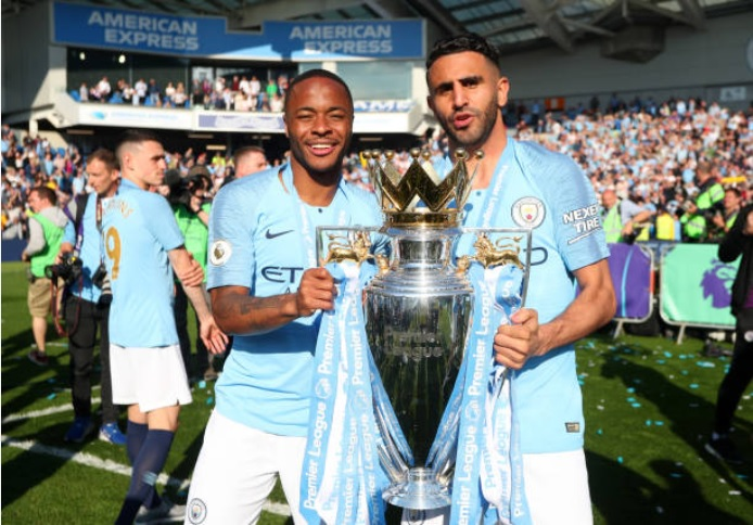 Riyadh Mahrez and Manchester City are officially champions