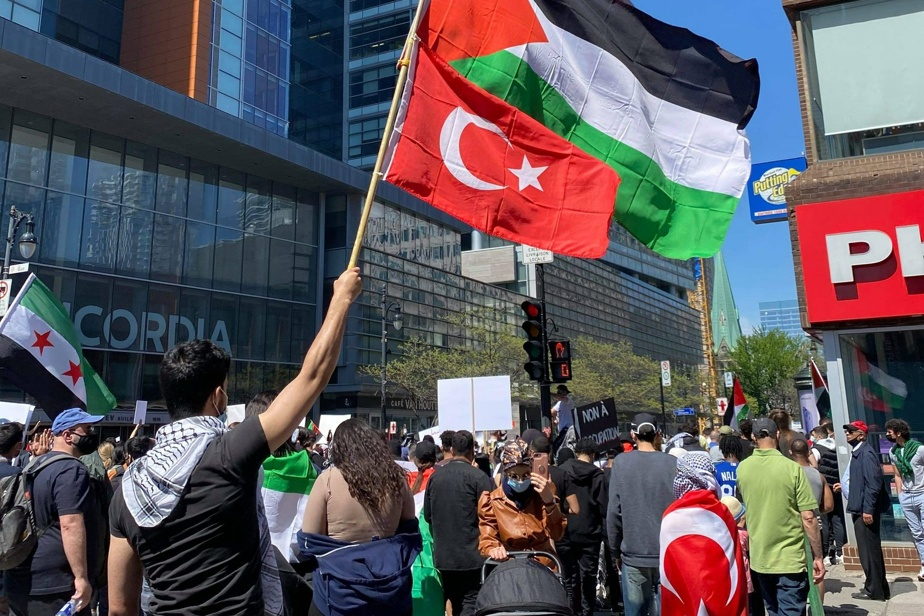 Square Dorchester |  Conflict between pro-Israel and pro-Palestinian protesters