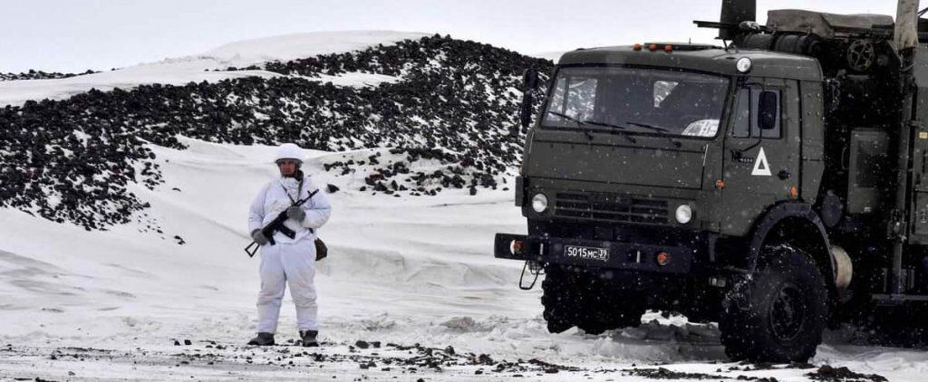 "Washington called on the Arctic to ""avoid militarization."""