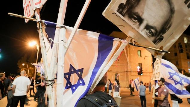 In Jerusalem, Netanyahu's opposition celebrates 'victory'