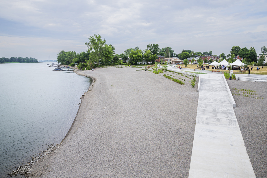 The new East Beach opened Monday
