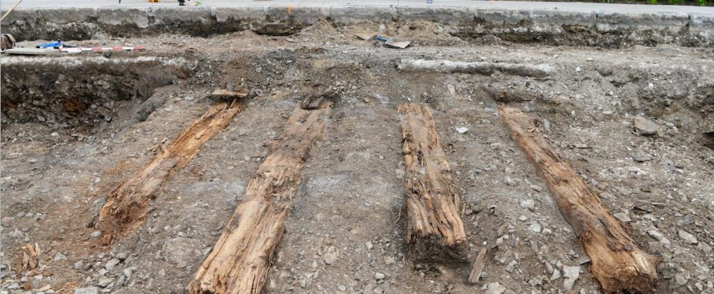 Archaeological excavations on the way to the future tramway