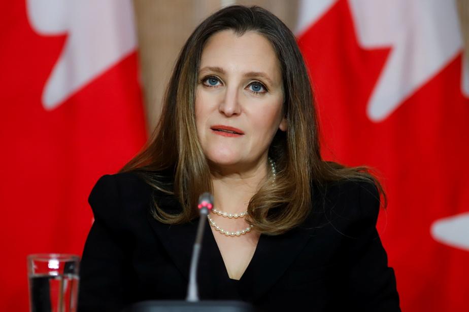 Bonus for executives    Christiana Freeland said Ottawa would convey its dissatisfaction to Air Canada