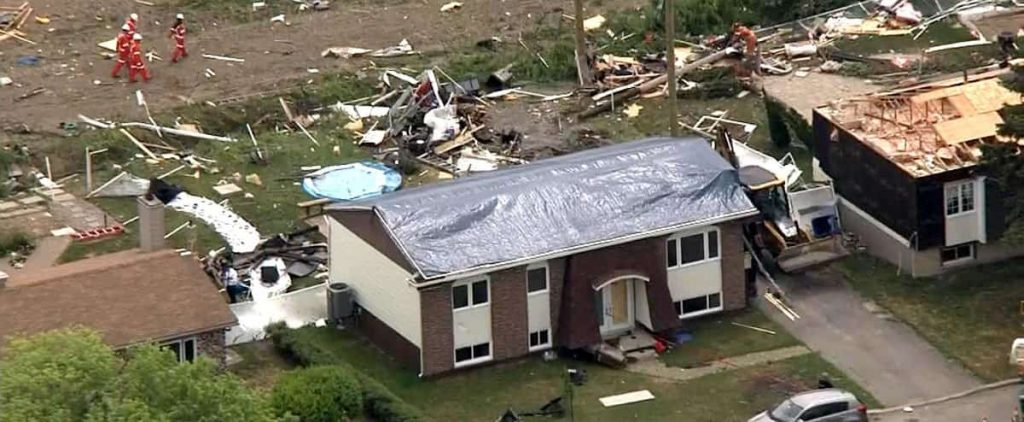 Four tornadoes hit Quebec on Monday