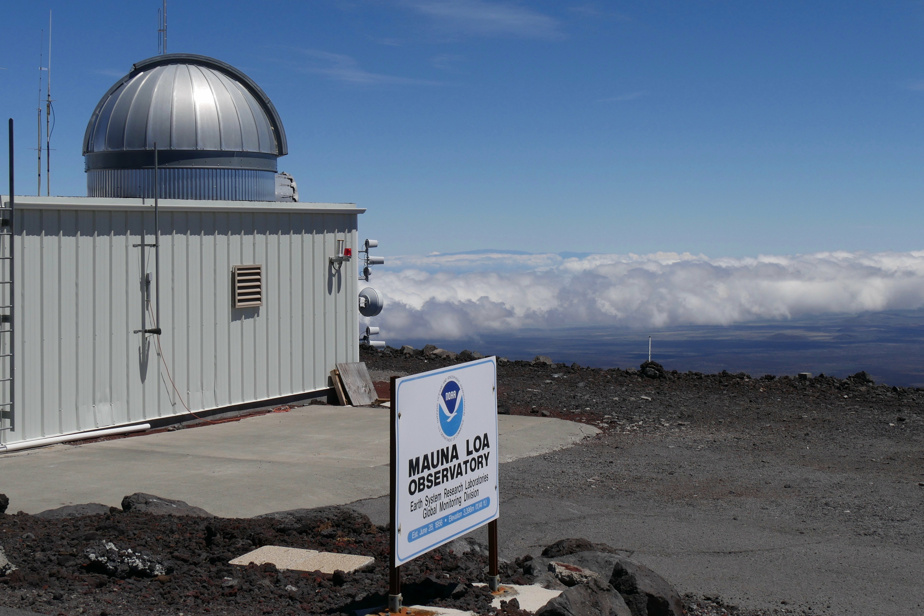 Hawaii Observatory Measure    New record for ration as CO2 in air