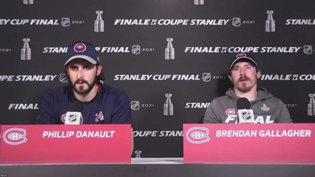 Brendan Gallagher and Philip Donald moved well