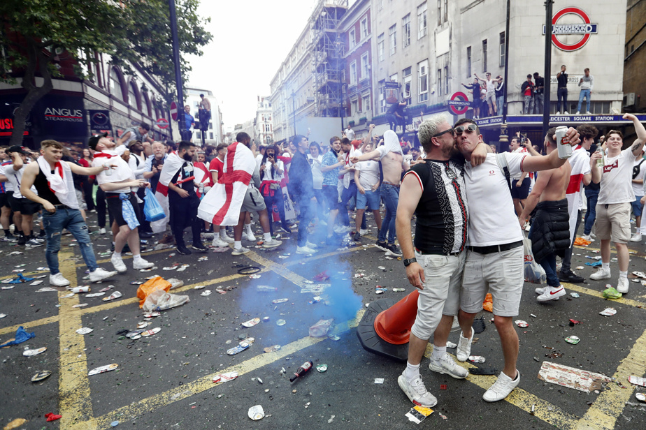 Euro    Tense atmosphere around Wembley before the final