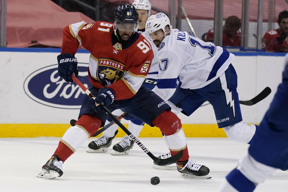 Panthers |  Anthony Duclair and Gustav Forsling rest, part of Keith Andley