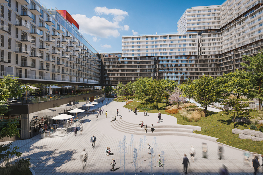 Espace is the inner courtyard of Montmorency, to which terraces open up, where a collaborative space can be found.