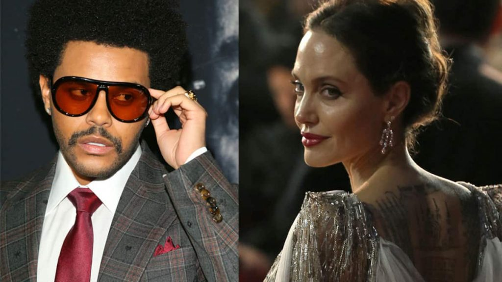 Angelina Jolie and The Weekend looked together again at the concert
