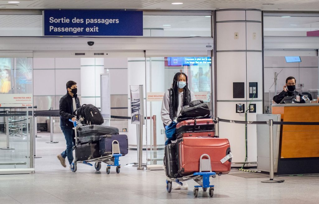 Montreal Airport Customs has stopped segregating visitors according to their vaccination status