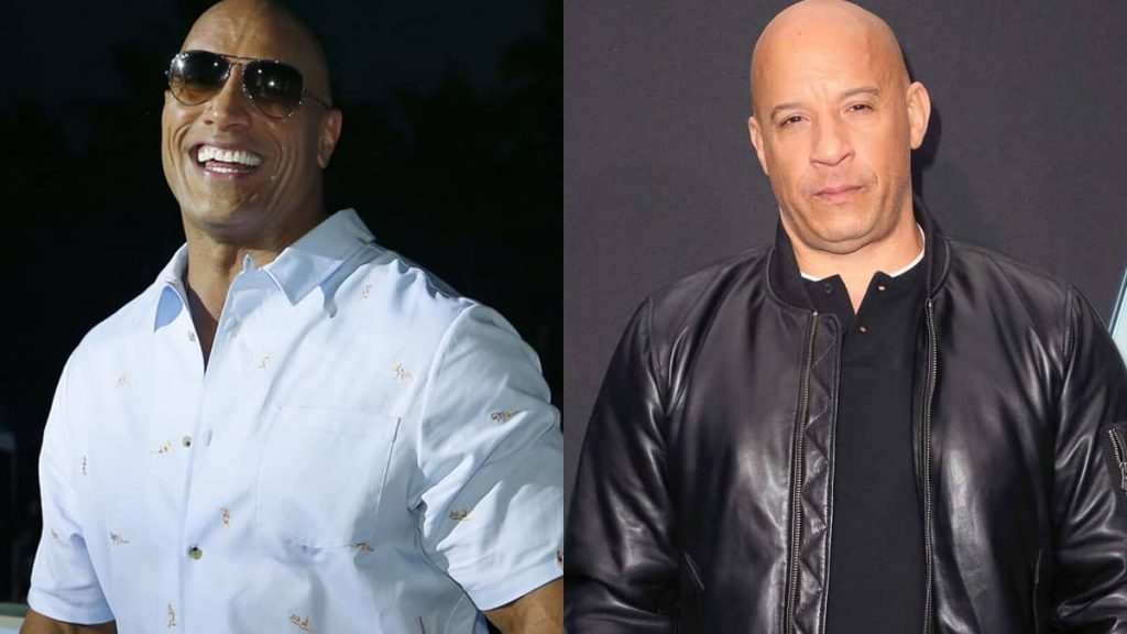Rock had a good laugh as Vin Diesel explained about their altercation