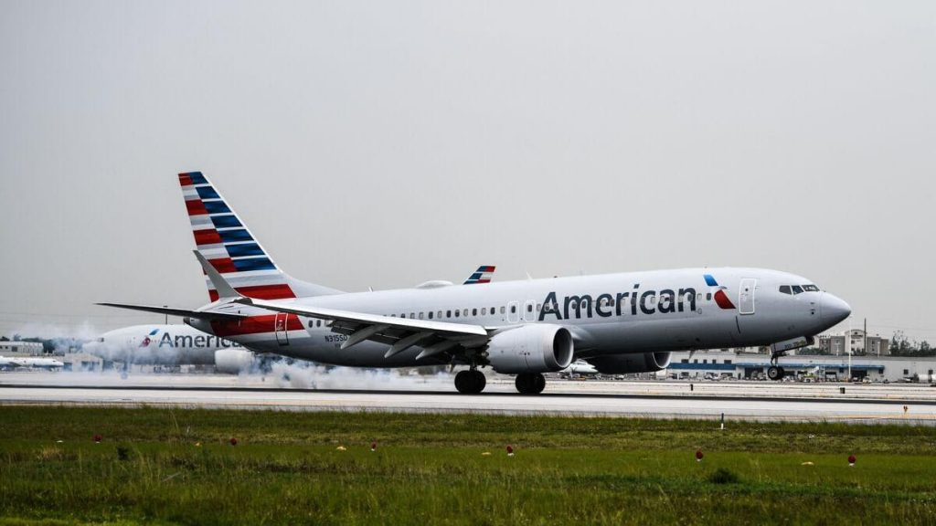 The American Airlines flight was delayed because the youth refused to wear masks