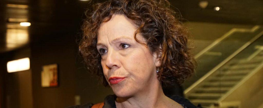 Toxic weather: Sue Montgomery challenged her suspension
