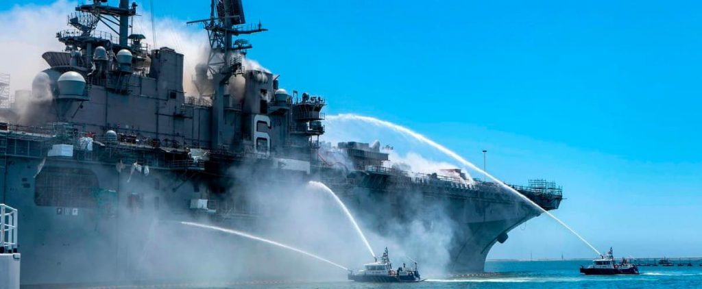 United States: A sailor has been blamed for a spectacular fire that destroyed a military ship in 2020