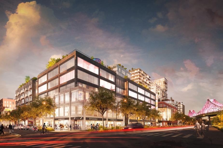New offices under the Jacques-Cartier Bridge