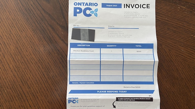 Doug Ford sent fake invoices to party supporters