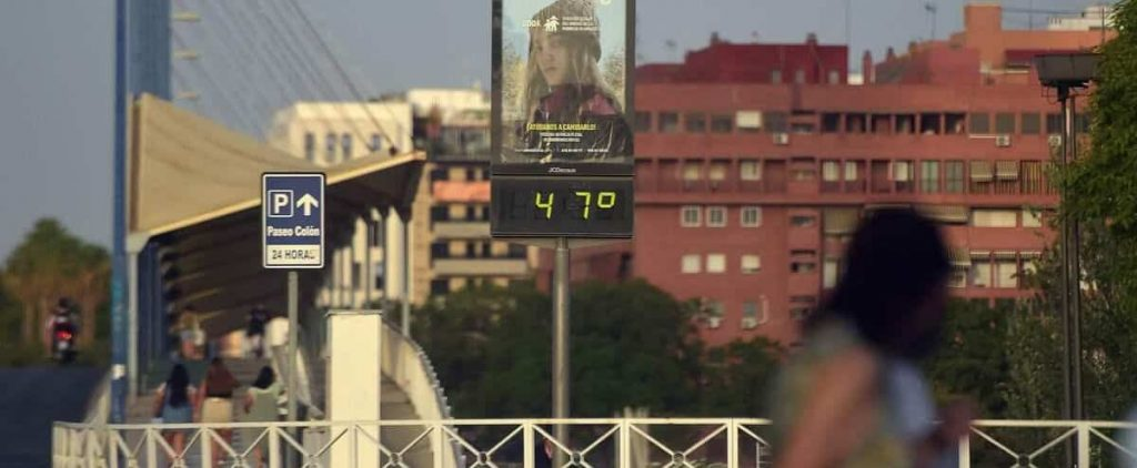 Absolute heat record in Spain: 47.4 C