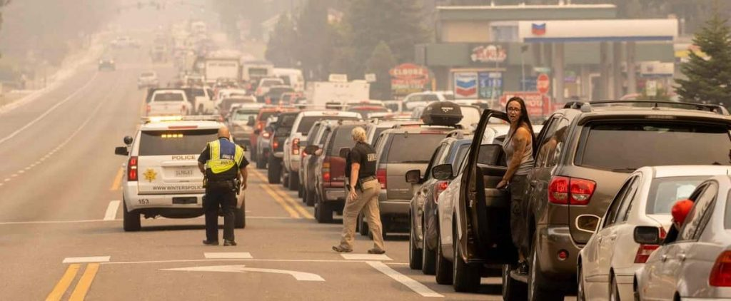 CALIFORNIA: A fire in a tourist area has left thousands of residents homeless