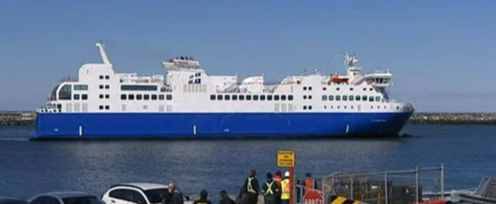 F.-A.- Gauthier ferry returns to dry dock