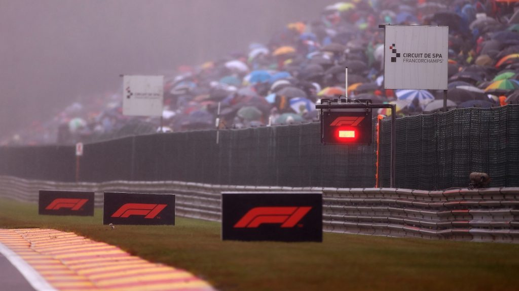 F1: The start of the Belgian Grand Prix has been delayed due to heavy rains