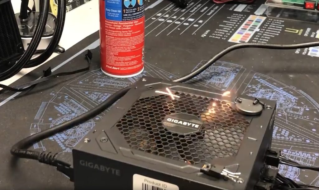 Gigabyte responds to its exploded power supply