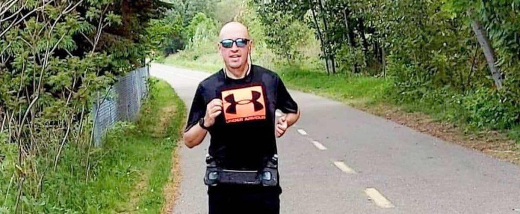 Half marathon with 123 pounds less