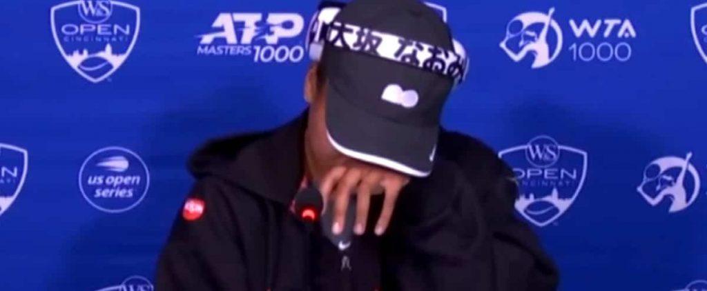 Naomi shed tears at the Osaka press conference