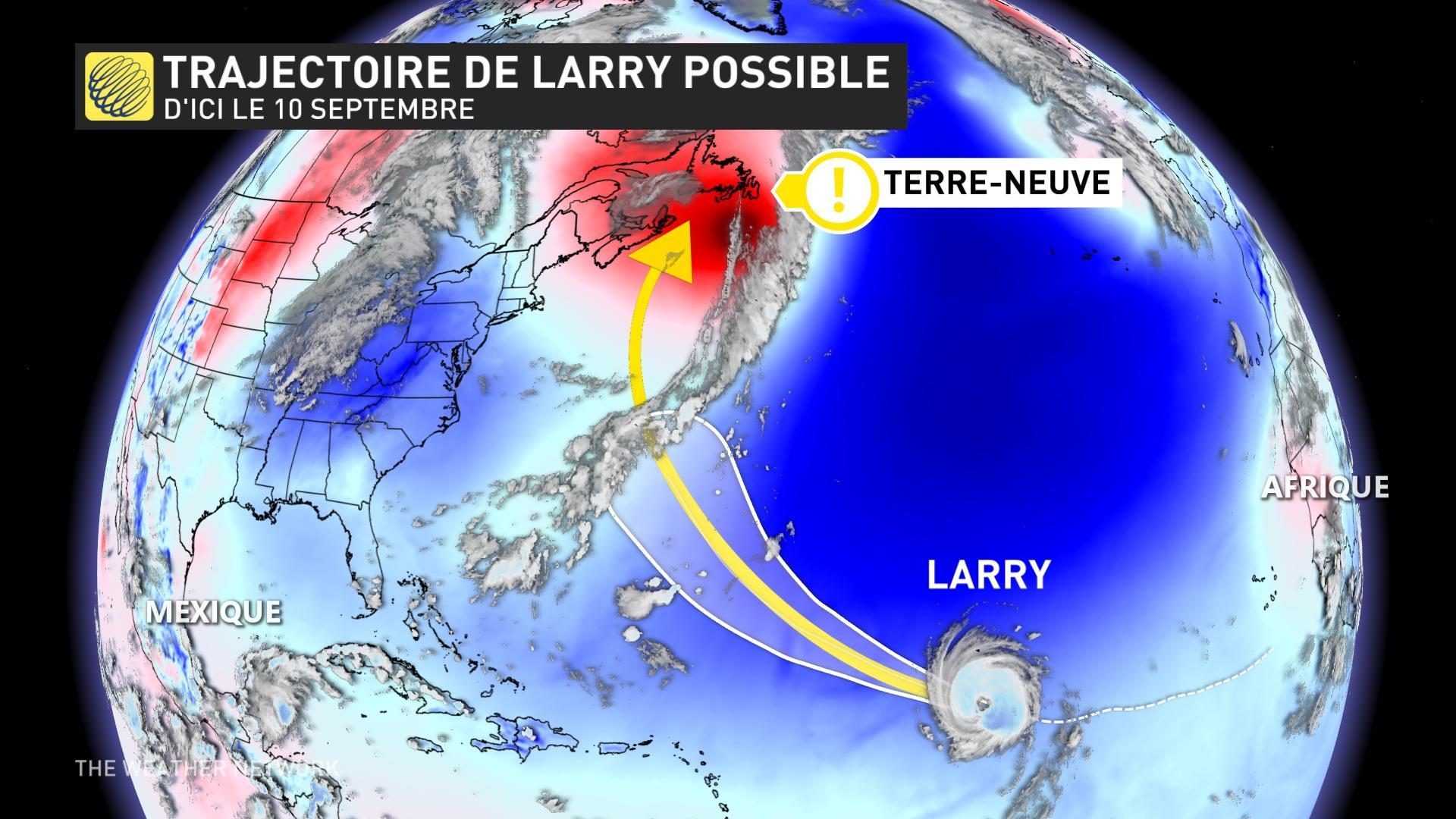 Larry possible final trajectory