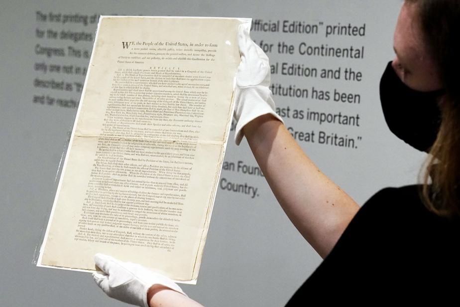 The U.S. Constitution bid $ 15-20 million