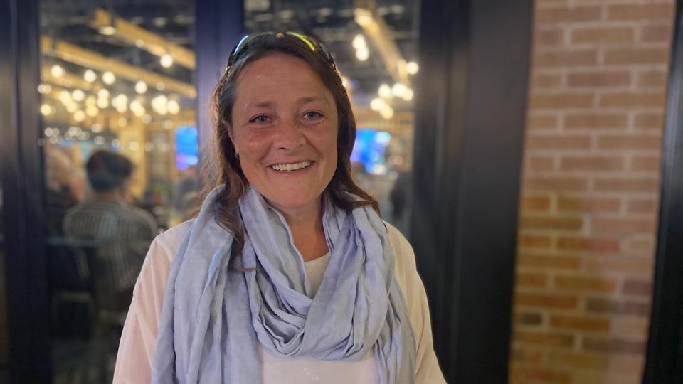 Black Cubacois MP Julie Vignola laughed after her victory.