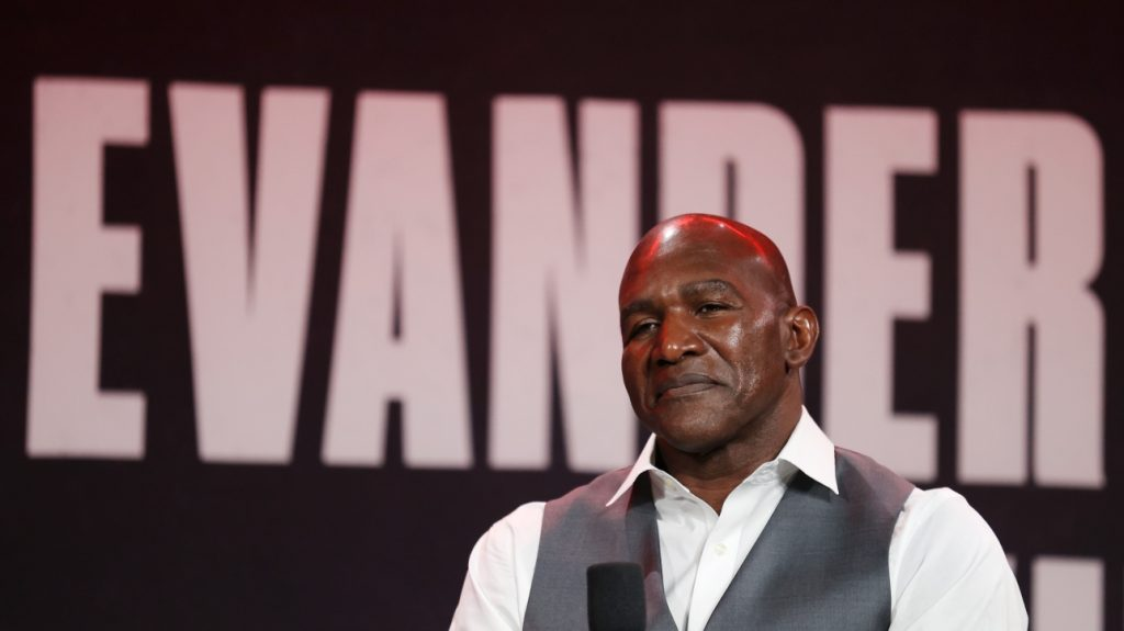 Boxing: Evander Holyfield enters the ring to face Witter Belfort 10 years later