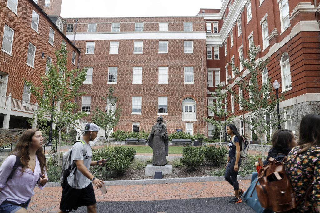 Georgetown said two samples identified the norovirus in the campus community and showed nearly 100 symptoms.