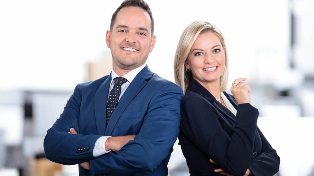 Julie Couture and Pierre-Antoine Gosselin led by TVA Nouvelles Quebec