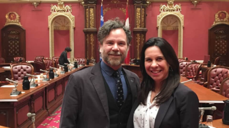 Franయిois Croto and Valerie Plante in the National Assembly.