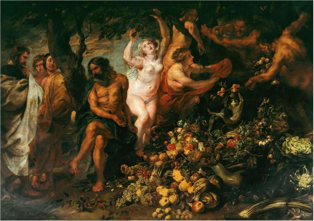 Pythagoras was the first person to define a vegetarian diet as we know it.  Canvas by Peter Paul Rubens.  Ier Pierre Paul Rubens, Wikimedia Commons, public domain