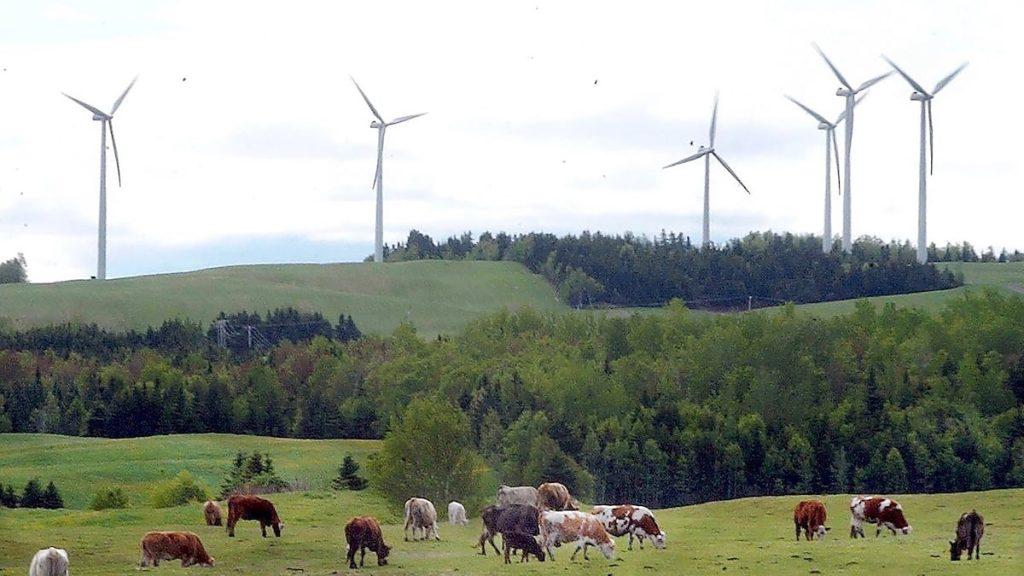 Wind energy change for Quebec