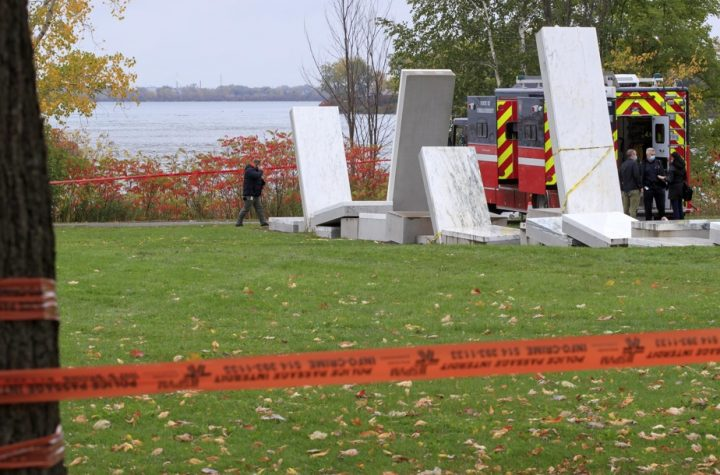 Pierre Lacroix's funeral was celebrated Friday with firefighters dying in the river