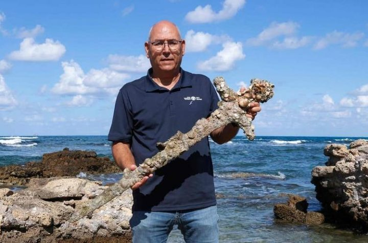 A 900-year-old Crusader sword was found by a diver in Israel