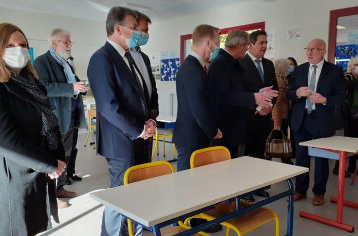 La nouvelle salle de classe va permettre de répondre à l'augmentation du nombre d'élèves inscrits à l'école de Lamothe-Montravel.
