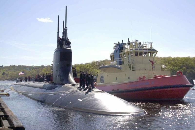 An American submarine collided with an unidentified object in the China Sea