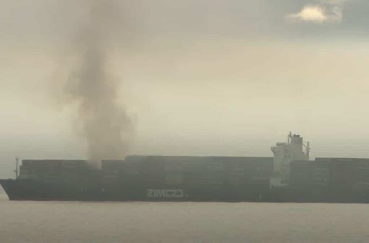Burning container ship releases toxic gas off the coast of Canada