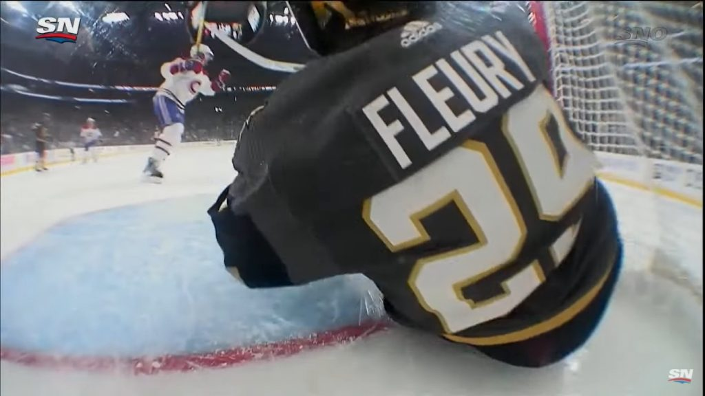 Mark-Andre Fleury avenges from the Golden Knights