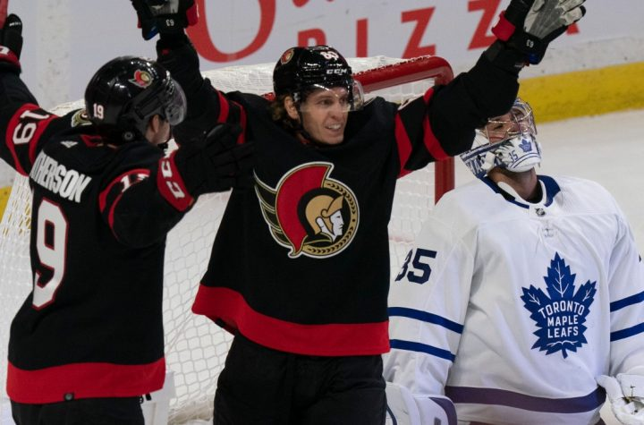 NHL: Anton Forceberg disappoints maple leaves;  The senators won their opener 3-2