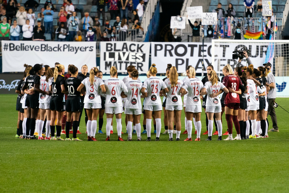 NWSL League    Players are interrupting the match to denounce sexual harassment