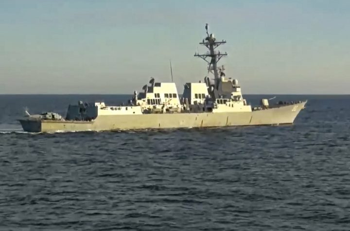 Sea of Japan |  Two Russian and American warships were feeding the event